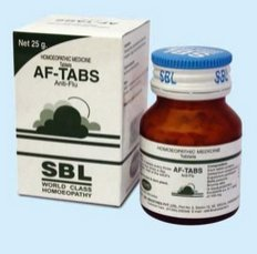 <b>AF-TABS - For cold and flu</b><BR> tablets - bottle of 25grs <BR> SBL cie