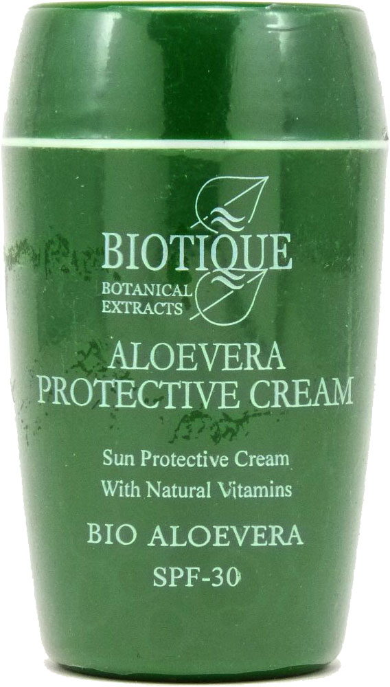 <b>PROTECTIVE SUN CREAM SPF-30</b><br>BIO ALOEVERA SPF30 - PROTECTIVE CREAM<br>Aloe Vera and natural vitamines<br>55 grs