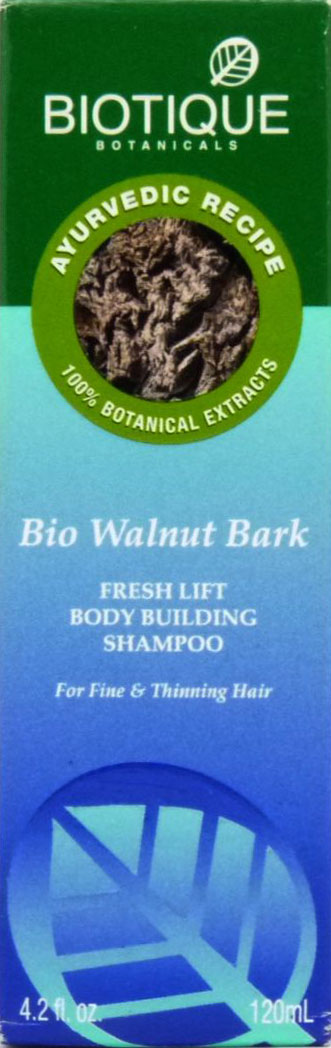 <b>CLEANSER FOR BLACK HAIR</b><br>BIO WALNUT - WALNUT BARK<br>120 ml