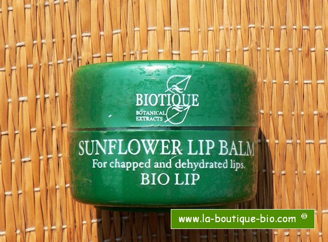 <b>LIP BALM</b><br>BIO SUNFLOWER LIP BALM<br>16 grams