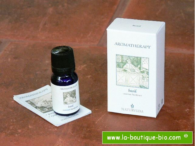 <b>EO - BASIL</B><br>Ocimum Basilicum<BR>NAT - 100% NATURAL<br>10 ml