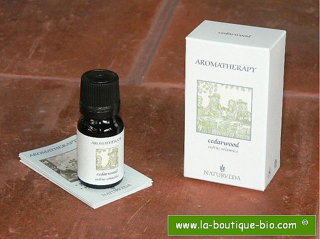 <b>EO - CEDARWOOD</B><br>Cedrus Atlantica<br>NAT - 100% NATURAL<br>10 ml