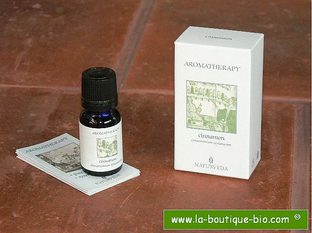 <b>EO - CINNAMON</B><br>Cinnamomum Zeylanicum<br>NAT - 100% NATURAL<br>10 ml