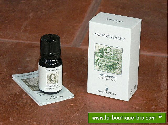 <b>EO - LEMONGRASS</B><br>Cymbopogon Citratus<BR>NAT - ORGANIC CULTIVATION<br>10 ml