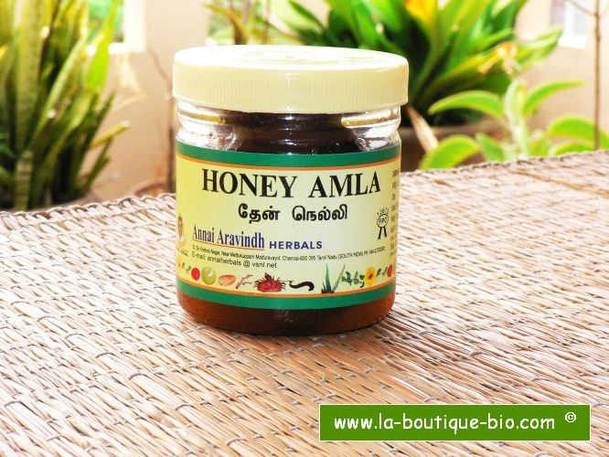<B>AMALAKI PRESERVED IN HONEY</B><BR>ARA - HONEY AMLA <BR>250 grs