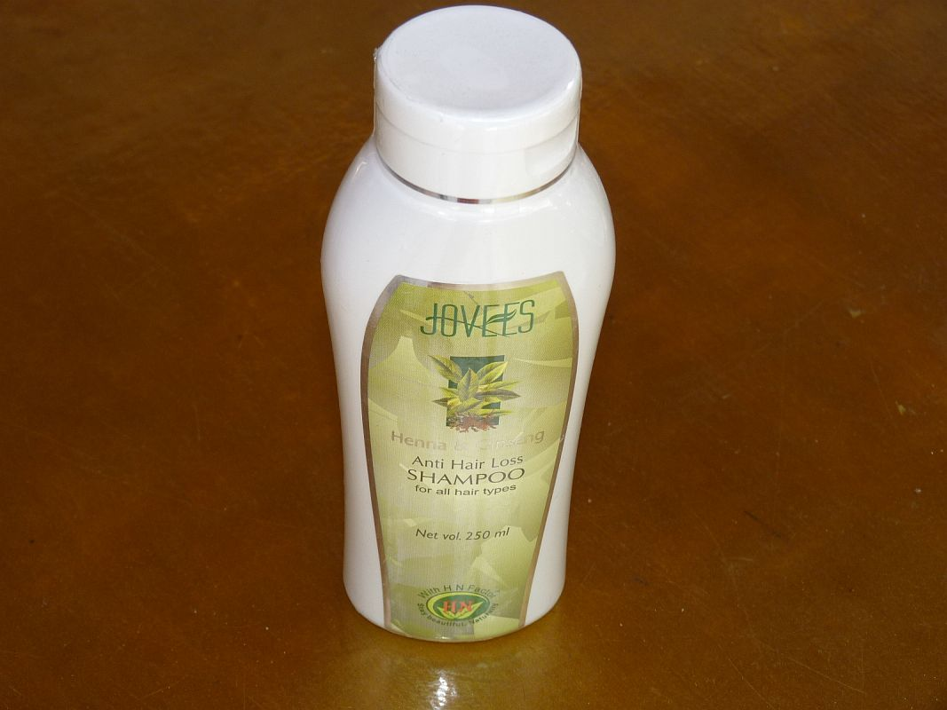 <b>SHAMPOOING ANTI-CHUTE HENNE ET GINSENG</B><BR>JOVEES - Henna and Ginseng Anti-hair loss shampoo<BR>250 ml