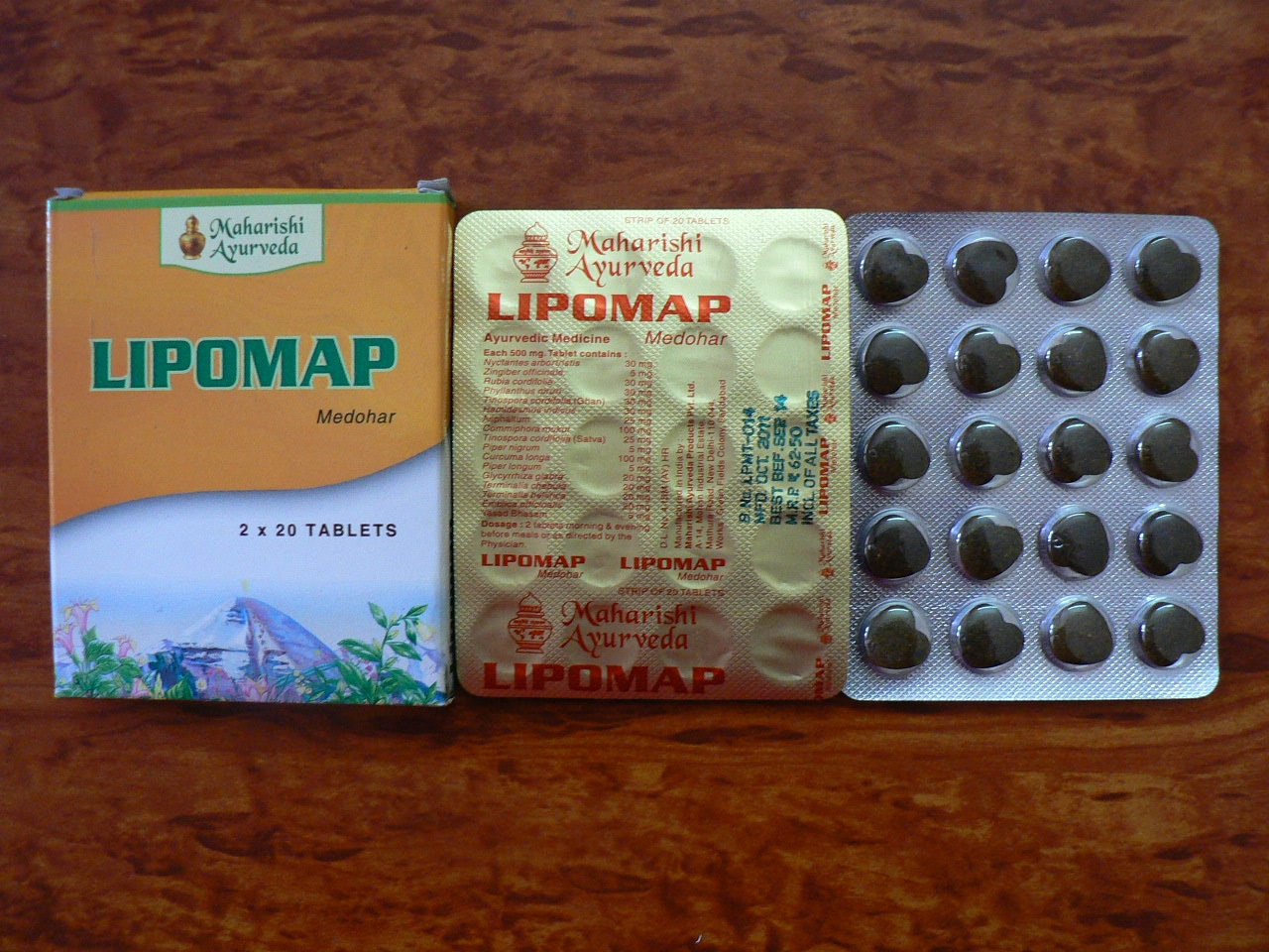 <b>MAHARISHI LIPOMAP</B><BR>AGA - 1 box of 2 x 20 tablets