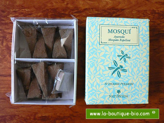 <B>MOSQUITO REPELLENT</B><BR>NAT - MOSQUI PYRAMID INCENSE<BR>1O PYRAMIDS