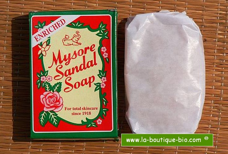 <b>SOAP - SANDALWOOD</b><br>MYSORE SANDAL SOAP<BR>6 x 75 grs
