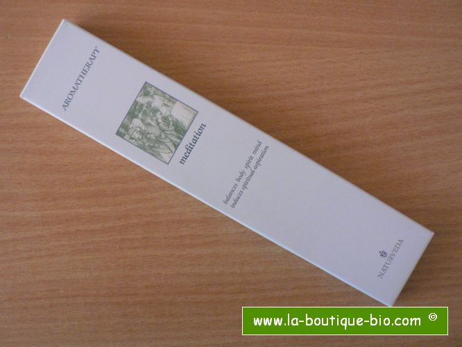 <b>MEDITATION</b><br>NAT - AROMATHERAPIC INCENSE<BR>WITH ESSENTIAL OILS<br>12 sticks