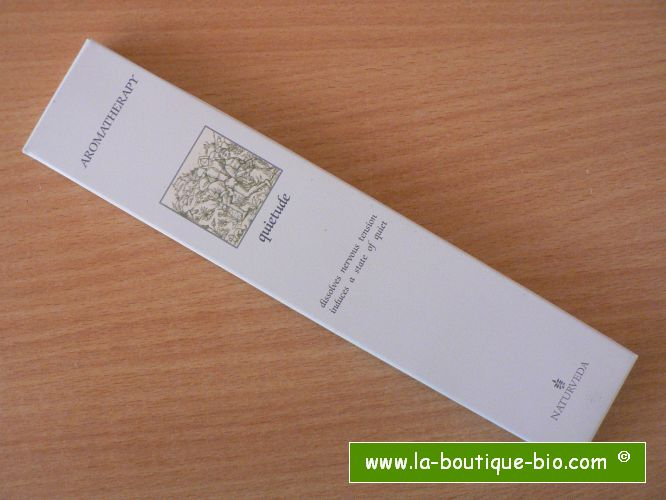 <b>QUIETUDE</b><br>NAT - AROMATHERAPIC INCENSE<BR>WITH ESSENTIAL OILS<br>12 sticks