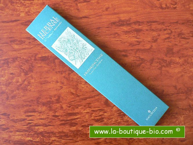 <b>FRANKINCENSE</b><br>NAT - AYURVEDIC INCENSE<BR>Boswellia Thurifera<br>12 sticks