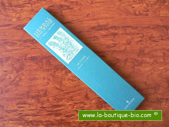 <b>VETIVER</b><br>NAT - AYURVEDIC INCENSE<BR>Vetiveria Zizanioides<br>12 sticks