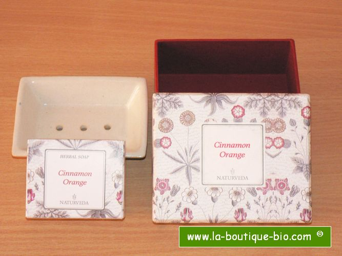 <B>GIFT BOX SOAP - CINNAMON-ORANGE</B><BR>NAT - SOAP HOLDER GIFT BOX<BR>CINNAMON-ORANGE