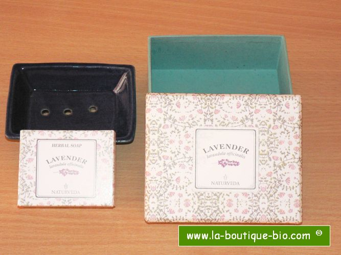 <B>GIFT BOX SOAP - LAVENDER</B><BR>NAT - SOAP HOLDER GIFT BOX<BR>LAVENDER