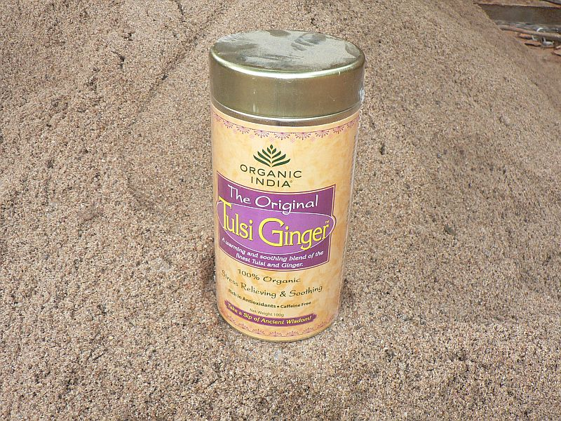 <B>TULSI GINGER</B><BR>OI - TULSI GINGER<BR>ORGANIC CERTIFIED<BR>Metal box - 100 g