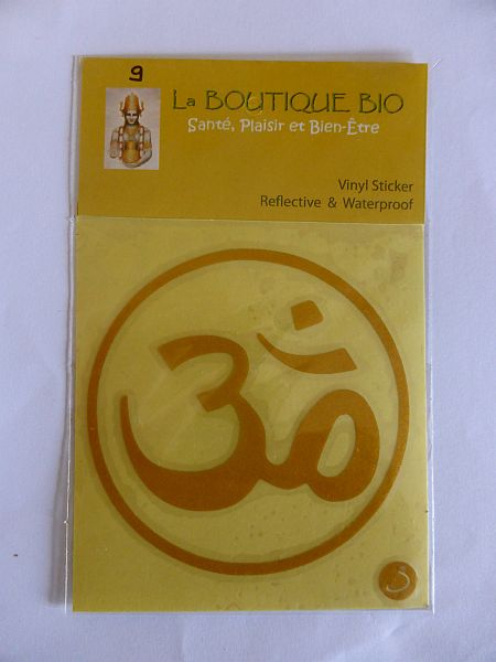 <b>STICKER AUM jaune</B><BR>STICKER AUM yellow<BR>