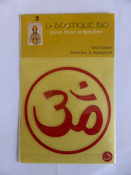 <b>STICKER AUM rouge</B><BR>STICKER AUM red<BR>