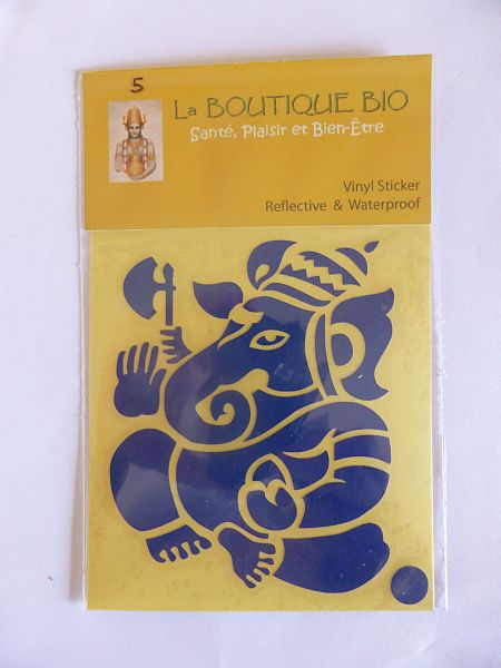 <b>STICKER GANESH bleu</B><BR>STICKER GANESH blue - 5<BR>