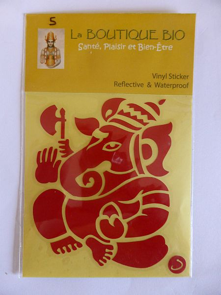 <b>STICKER GANESH red</B><BR>STICKER GANESH red - 5<BR>