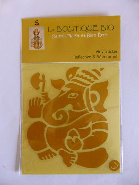 <b>STICKER GANESH yellow</B><BR>STICKER GANESH yellow - 5<BR>