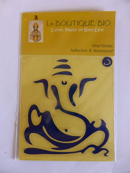 <b>STICKER VINAYAKA bleu</B><BR>STICKER VINAYAKA blue - 3 <BR>