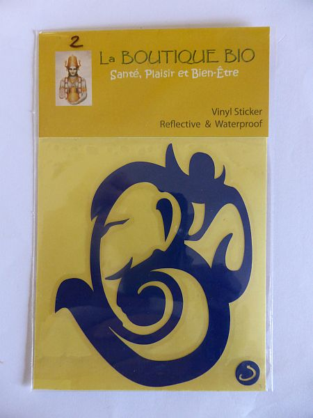 <b>STICKER OM GANESH bleu</B><BR>STICKER OM GANESH blue - 2 <BR>