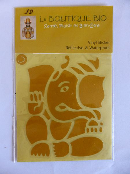 <b>STICKER GANESHA jaune</B><BR>STICKER GANESHA yellow - 10<BR>