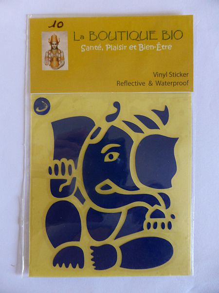 <b>STICKER GANESHA bleu</B><BR>STICKER GANESHA blue - 10<BR>