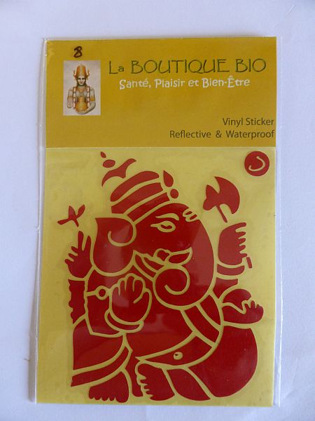 <b>STICKER GANAPATI rouge</B><BR>STICKER GANAPATI red - 8 <BR>