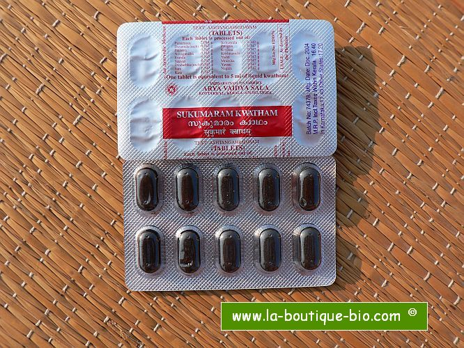 <b>SUKUMARAM KWATHAM</B><br>AVS - Blister strip of 10 tablets</b>