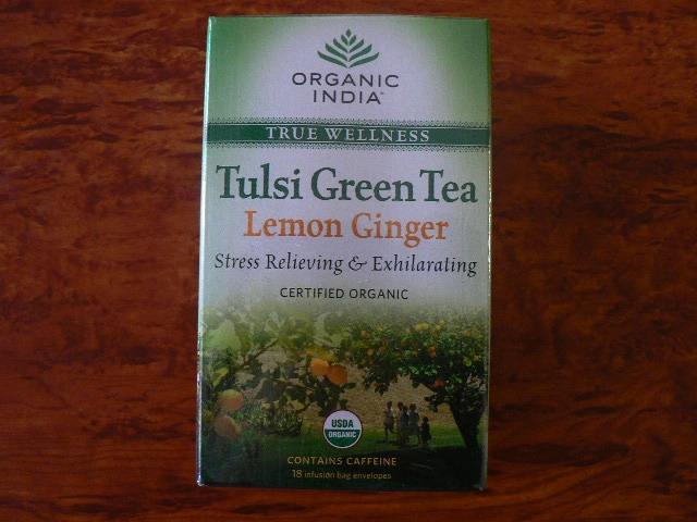 <B>TULSI LEMON GINGER GREEN TEA</B><BR>OI - TULSI LEMON GINGER GREEN TEA<BR>ORGANIC CERTIFIED<BR>18 bags x 1.8g