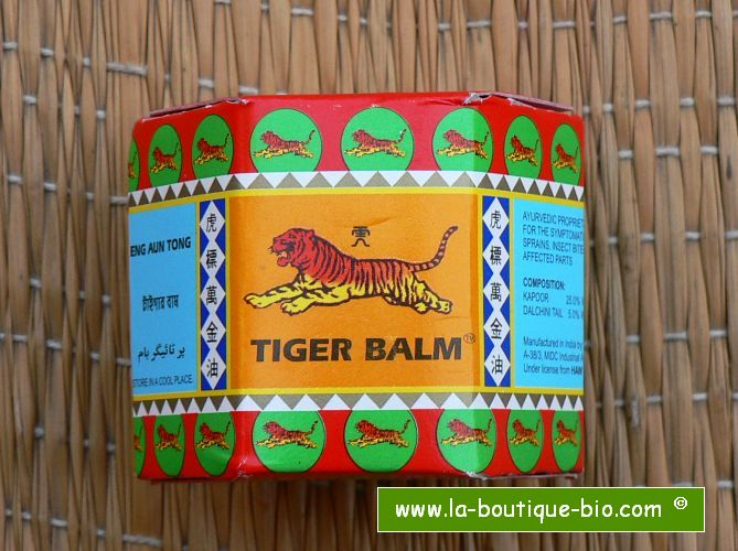 <b>ANTI DOULEUR</B><BR>BAUME DU TIGRE - ROUGE<br>TIGER BALM - RED<BR>18 grs