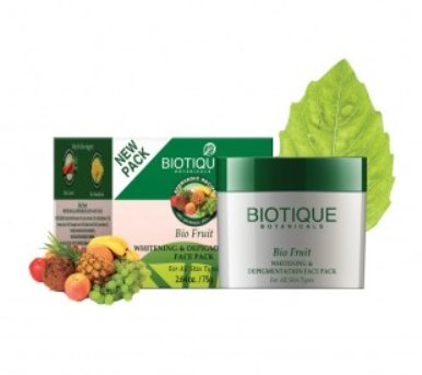 <b>SKIN WHITENING AND FAIRNESS PACK</b><br>BIO FRUIT PACK<br>75 grs