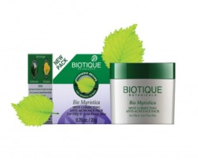 <b>ACNE AND PIMPLES</b><br>BIO - MYRISTICA PACK<br>25 grs