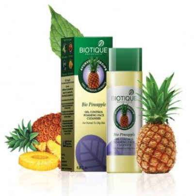 <b>FOAMING FACE CLEANSER GEL</b><br>BIO - PINEAPPLE FRUIT GEL<br>120 ml