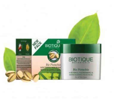 <b>NOURISHING AND REVITALISING CREAM</b><br>BIO PISTACHIO PACK<br>50 grs