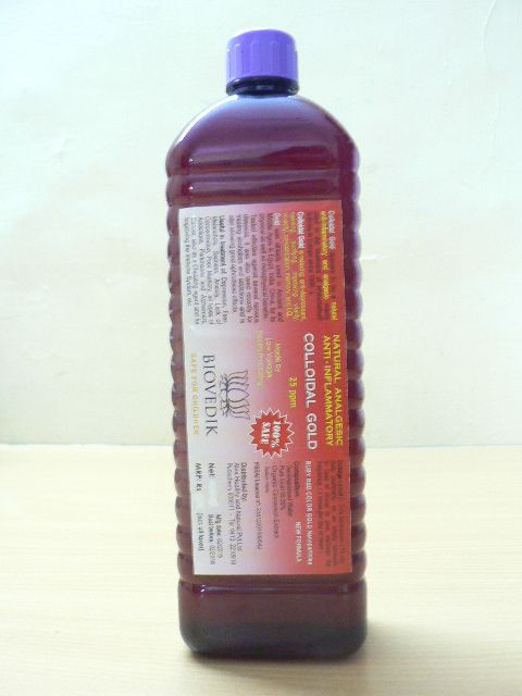 <b>100% COLLOIDAL GOLD</b><br>100% GOLD COLLOIDAL <br>Concentration 25 ppm<br>PET bottle - 1 Liter