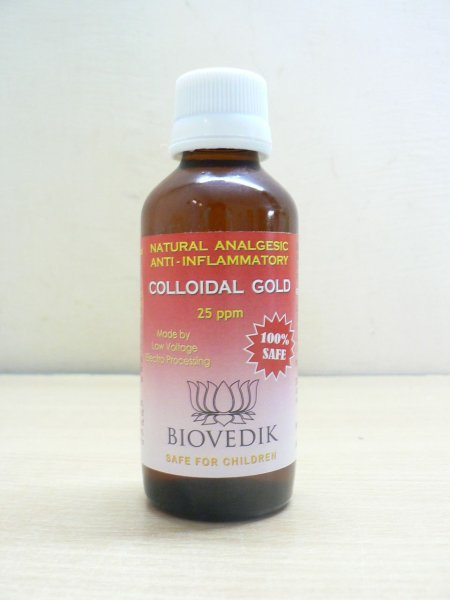 <b>100% COLLOIDAL GOLD</b><br>100% GOLD COLLOIDAL <br>Concentration 25 ppm<br>Glass bottle 120 ml