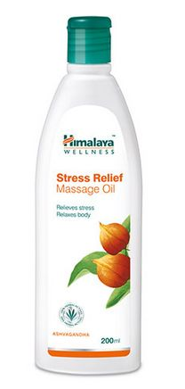 <b>ANTI-STRESS MASSAGE OIL</b><br>HIM - Ashwagandha and Indian Madder<br>200 ml