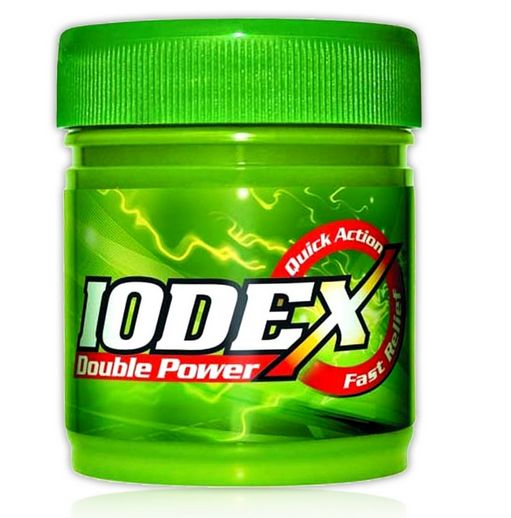 <b>PAIN BALM</B><BR>IODEX RUB Double Power<br>Even Quicker Pain Relief<br>10 grs