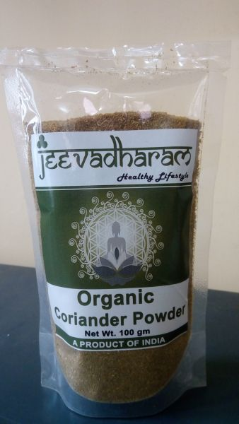 <b>CORIANDER POWDER</b><br>ORGANIC CULTIVATION CERTIFIED<br>jeeva CORIANDER POWDER<BR>100 grs