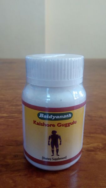 <b>KAISHORE GUGGULU - COMPRIMES - BAIDYANATH</B><br>KAISHORE GUGGULU <BR>80 tablets x 450mg
