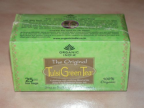 <B>TULSI GREEN TEA</B><BR>OI - TULSI GREEN TEA<BR>ORGANIC CERTIFIED<BR>25 sachets 1.74g
