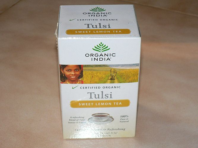 <B>TULSI THE CITRON DOUX</B><BR>OI - TULSI SWEET LEMON TEA<BR>CERTIFIE BIO<BR>18 sachets x 1.8g