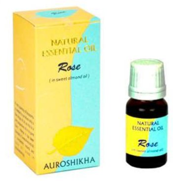 <B>HE - ROSE melangee a de l\'huile d\'amandes douces</B><br>Rosa damascena<BR>AUROSHIKA - 100% NATUREL - ROSE<br>10 ml