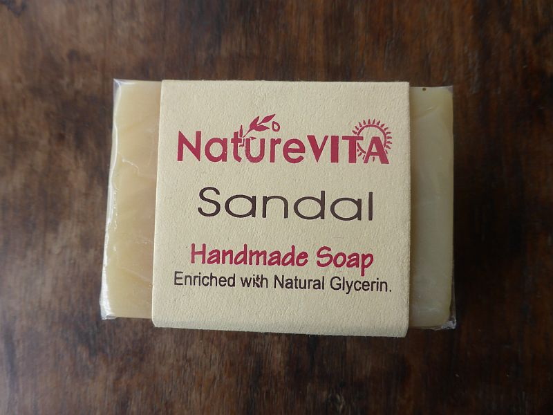 <b>SAVON - SANTAL</b><br>NATUREVITA -  SANDAL SOAP<BR>75 grs