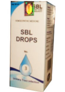 <B>SBL GOUTTES No 3 -  Infection des voies urinaires (UTI)</B><br> 1 flacon de 30ml <br> SBL cie