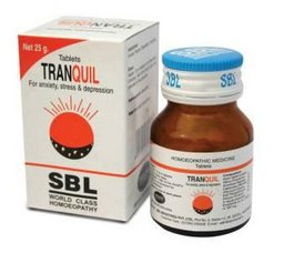 <b>TRANQUIL - Anxiety and Depression</b><br> 1 bottle of 25gm - each tablet 100mg<br> SBL cie