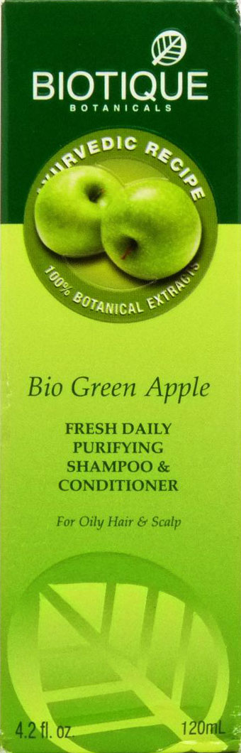 <b>CLEANSER FOR OILY HAIR</b><br>BIO GREEN APPLE<br>120 ml